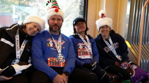 Holiday half marathon, post run